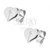 Bedugós fülbevaló 925 ezüstből - fényes kettéosztott szívek cirkóniával
