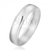Gyűrű 925 ezüstből, kerek, sima felület, bemetszés a széleknél