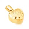 Arany medál - szabályos 3D szív, szatén felület, dísz vésetek