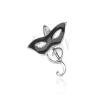 Sterling ezüst medál - fekete álarc és G-kulcs