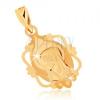 Medál 9K sárga aranyból - medál Szűz Máriával dísz keretben