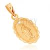 Medál 9K sárga aranyból - kétoldalas medál Szűz Máriával