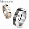 Titán karikagyűrű, réz és ezüst szín, cirkónia, római számok, 5 mm