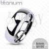 Titánium karikagyűrű, 6 mm