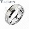 Wolfrám gyűrű - csiszolt téglalapok, tiszta cirkóniák