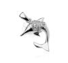 Medál sterling ezüstből - delfin cirkónia buborékokkal, kétoldalas medál