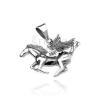 925 ezüst medál - szárnyas Pegazus, enyhén patinás felület