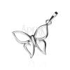 Medál 925 ezüstből - hegyes szárnyú pillangó