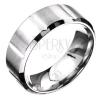Gyűrű acélból - függőleges vájatok, matt és fényes részek