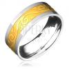Gyűrű acélból - arany-ezüst, spirál és hullám motívum