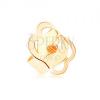 Pót stekker fülbevalóra 9K sárga aranyból, apró bevágások