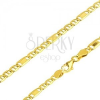 585 arany lánc - elemek pálcikával és egy téglalappal, 550 mm