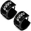 Fekete fényes acél fülbevaló - fehér fénymázas hangjegyek
