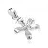 925 ezüst medál, kivirított liliom virág