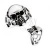 Méretes gyűrű sebészeti acélból - koponya, metszetek