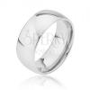 Lekerekített sima titán karika gyűrű ezüst színben