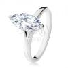 925 ezüst gyűrű, masszív cirkóniás ovális dekoratív foglalatban