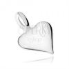 Medál 925 ezüstből, kidomborodó egyenetlen szív, fényes felület
