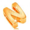 Medál 14K sárga aranyból, nagy nyomtatott N betű, tükörfényes