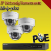 Hikvision 3 dome kamerás 2MP PoE IP szett - BŐVÍTHETŐ (hik-ip-3d02)