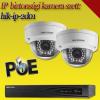 Hikvision 2 dome kamerás 1.3MP PoE IP szett - BŐVÍTHETŐ (hik-ip-2d01)