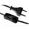 GAO 6782H Szerelt vezeték kapcsolóval euro dugóval fekete