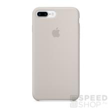 Apple iPhone 7 Plus gyári szilikon hátlap tok, kavicsszürke, MMQW2 tok és táska