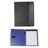 . Konferencia mappa, A4, szövet, fekete-kék (IKS2729)