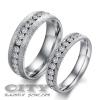 Nemesacél homokszem felületű ezüst színű kisköves gyűrű