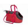 Hobbydog Bőr kutya hordozó táska - piros - 25x50cm