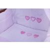 2 részes csipkés szív prémium babaágynemű szett