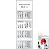 REALSYSTEM 4 tömbös speditőr naptár - Üres, nyomtatható fejrésszel