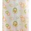 Fehér voila kész függöny zöld narancs karikás/0016/Cikksz:01150833