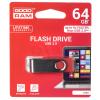 Goodram FLASHDRIVE 64GB USB 3.0 TWISTER Red