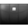 Riho Basel DC14160 404 fényes fekete zuhanytálca 100x80x4,5