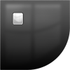 Riho Basel DC98160 451 fényes fekete zuhanytálca 90x90x4,5