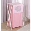 Prémium hímzett szennyes tároló - Rózsaszín elefánt