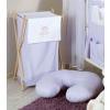 Prémium hímzett szennyes tároló - Felhős maci lila