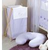 Prémium hímzett szennyes tároló - Alvó maci lila