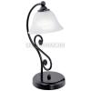 EGLO Fekete/alabástrom üveg asztali lámpa 37 cm, E14 EGLO MURCIA 91007