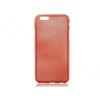 Apple iPhone 6 Plus / 6S Plus, TPU szilikon tok, Jelly Brush, szálcsiszolt mintázat, piros
