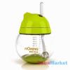 MOMMA rocking cseppmentes szívószálas itatópohár zöld 250 ml