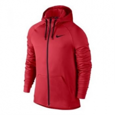 Nike Therma férfi kapucnis felső, University Red/Black, S (800187-657-S)
