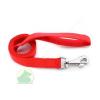25 mm x 1,2 m nylon póráz füllel, normál karabínerrel piros