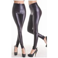 Fekete Faux Bőrhatású Leggings