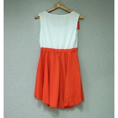 Fehér-rózsaszín mini ruha- Egy méret
