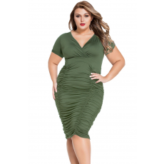 Army Green Plus size Midi Ruha