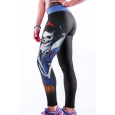 Evil Skull Queen Bodycon Yoga Nadrág