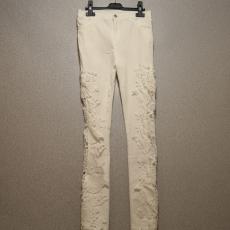 Fehér oldalt csipkés nadrág- XL