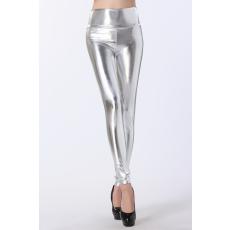 Ezüst magasított derekú leggings